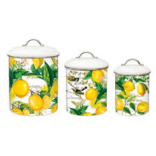 Yellow Canister Sets Kitchen Michel Design Works Me6 Kitchen Baking Cooking Metal Canister Set