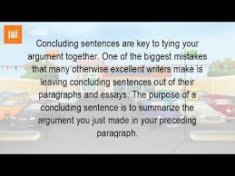 what is the function of the concluding sentence  what is the function of the concluding sentence