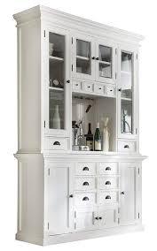 Amazoncom Novasolo Halifax Pure White Mahogany Wood Hutch Cabinet