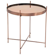 copper side tables in the must have metal of moment modular table kmart