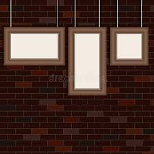 how to hang a picture on a brick wall the frames for the pictures hang on the background of the brick wall retro how to hang picture on brick wall