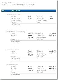 International Travel Planner Template