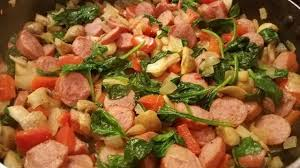 turkey sausage with veggies