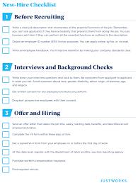 New Hire It Checklist New Employee Checklist Rome Fontanacountryinn Com