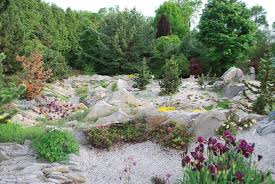 A stone garden can also be very large. Here we see a large and interesting