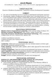 chronological resume sample director workforce development pg1 - Boston  College Resume Template