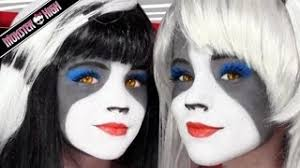 the werecat sisters monster high doll costume makeup tutorial for cosplay or kittiesmama emma shows you