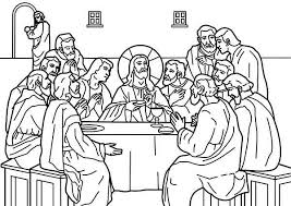 Small Picture Download Last Supper Coloring Pages