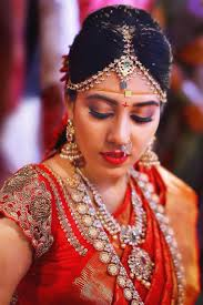 south indian bridal makeup with moisturized skin
