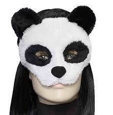 Animal Eye Size Chart Details About Deluxe Fuzzy Panda Bear Eye Half Mask Zoo Animal Adult Costume Accessory