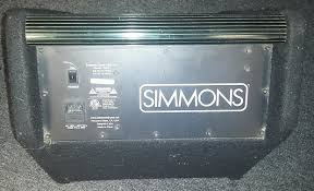 simmons amp. simmons da-50 50w electronic drum set monitor amp amplifier