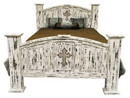 white rustic bedroom furniture. Interesting White White Scrape Rustic Bedroom Set With Cross  With Furniture