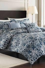 image of nicole miller porcelain blue king comforter sham set