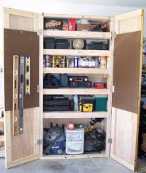 diy garage shelves with doors