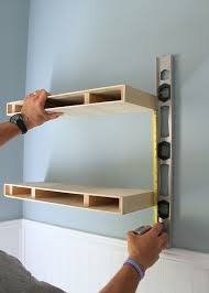 diy floating desk diy home. Measuring For Placement Of A Second Floating Shelf In DIY Shelves  Project Diy Desk Home O
