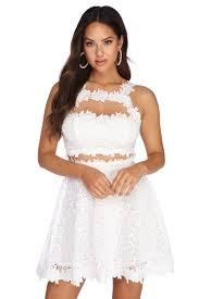 Unique one shoulder dresses of different colors ideas Convertible Crochet Beauty Skater Dress Windsor Womens Dresses Windsor Store