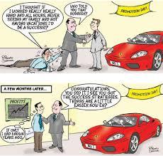 success cartoon succeed cartoons working smart not hard cartoon one guy has worked