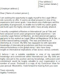 Legal Cover Letter Sample How To Structure Lawyers