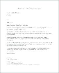 Disciplinary Appeal Letter Template Academic Dismissal