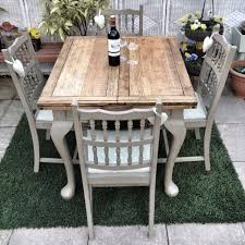 shabby chic dining sets. Antique Shabby Chic Draw Leaf Dining Table In Annie Sloan \u0027Coco\u0027 Sets