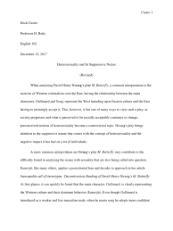 m butterfly essay revised ethnicity race gender gender