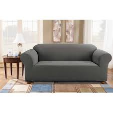 Image Chair Slipcovers Walmart Sure Fit Simple Stretch Subway Onepiece Sofa Slipcover Walmartcom