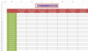 Weekly Work Schedule Template In Excel Free Download