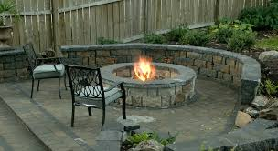 image of prefab outdoor fireplace round