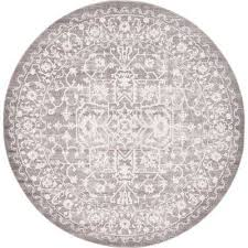 new classical light gray 8 ft x 8 ft round area rug
