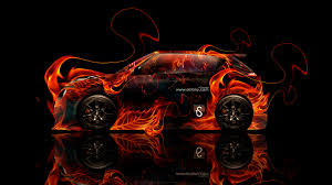 nissan juke r fire abstract car