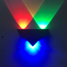 Multicolor Wall Light Us 10 23 21 Off Multicolor Modern Led Wall Lamp 3w Triangle Wall Light For Home Lighting Luminaire Bathroom Bedroom Stair Sconce Light Fixture In