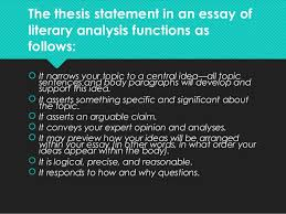 how to write a thesis statement literary essay thesis statements and introductions bucks county community