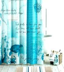 beach fabric shower curtain flamingo polyester
