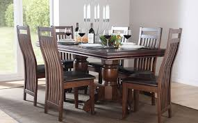 stunning dark wood dining room set dining table set for 6 brilliant decoration dining room chairs