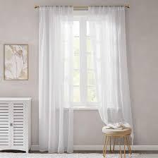 Gardinen Schals Weiß Leicht Soft Mit Stangendurchzug Voile