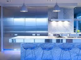 Kitchen:Kitchen Bar Lights And 47 Wonderful Blue Led Light Under The Kitchen  Island Also