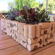 Wine cork planter box wine cork project ideas
