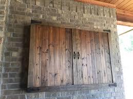 interior outdoor tv cabinet ideas elegant barn door style with regard to 26 from outdoor