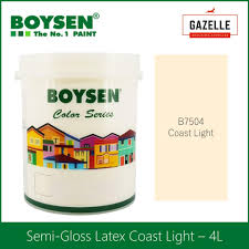 Boysen Virtuoso Color Chart Boysen Permacoat Semi Gloss Latex Coast Light B7504 Acrylic Latex Paint 4l