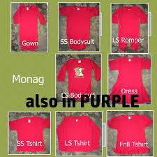 Monag Shirts Size Chart Photos Of Monag T Shirts Bodysuit Romper Gowns Dress Styles And Size Charts Do Not Purchase This Listing