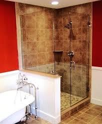 glass shower half wall stunning shower doors half wall three panel and up shower doors glass glass shower half wall