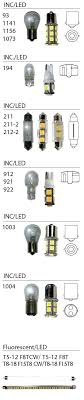 12v Automotive Bulb Chart Auto Light Bulbs Guide Oaklandgaragedoors Co