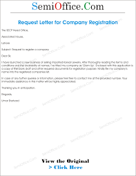 Company Registration Letter Template