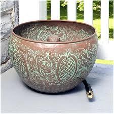 garden hose pot with lid. Garden Hose Container With Lid Holders Embossed Leaf Design Holder Resin Pot