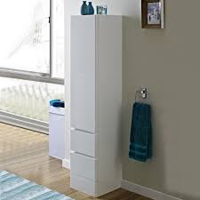 White Floor Bathroom Cabinet Tall Wall Bathroom Cabinets White Crowdsmachinecom