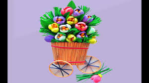 Paper Quilling Flower Baskets Paper Quilling Flower Basket Paper Quilling Art Youtube