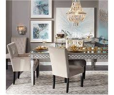 z gallerie s sophie mirrored dining table exudes sophistication elegance plete the look by pairing with our tufted velvet lola dining chairs