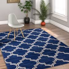 home interior unique blue geometric area rug well woven mystic alvin 5 ft x 7