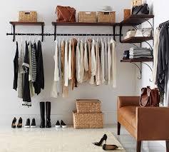 wall mounted closet rod with shelf