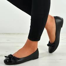 New Womens Ladies Slip On Flat Ballerinas Low Heels Ballet Dolly Pumps Shoes
